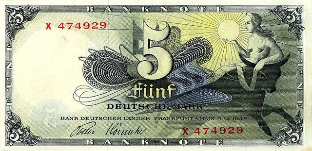 Zahlungsmittel Deutschland bis 31.12.1966