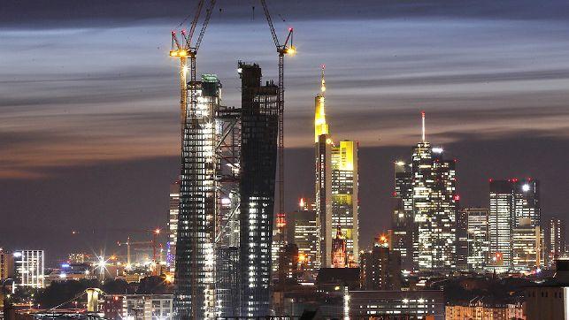 Baustelle des EZB- Hauptsitzes