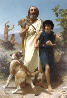 Homer gilt als Autor der Ilias und Odyssee und damit als erster Dichter des Abendlandes.