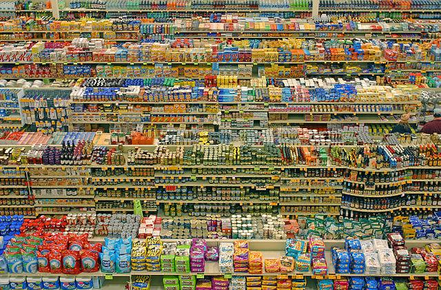 In einem Supermarkt können bis zu 40000 Artikel im Angebot enthalten sein