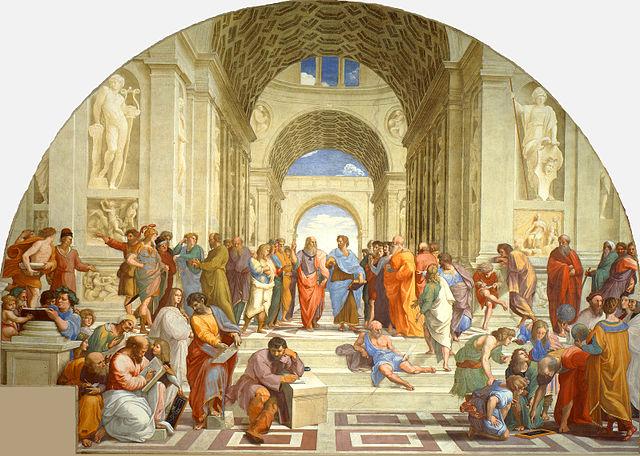 Die Schule von Athen. Raffael, 1511