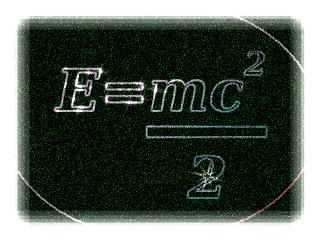 E=mc im Quadrat / 2