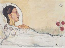 Die schwer erkrankte Valentine Godé-Darel, ein halbes Jahr vor ihrem Tod.