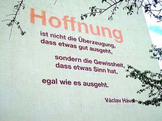 Giebelwand eines Wohnblocks in Weimar in der Ettersburger Strasse